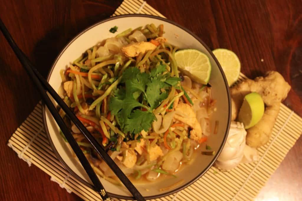 Delicious Thai Shirataki Peanut Noodles