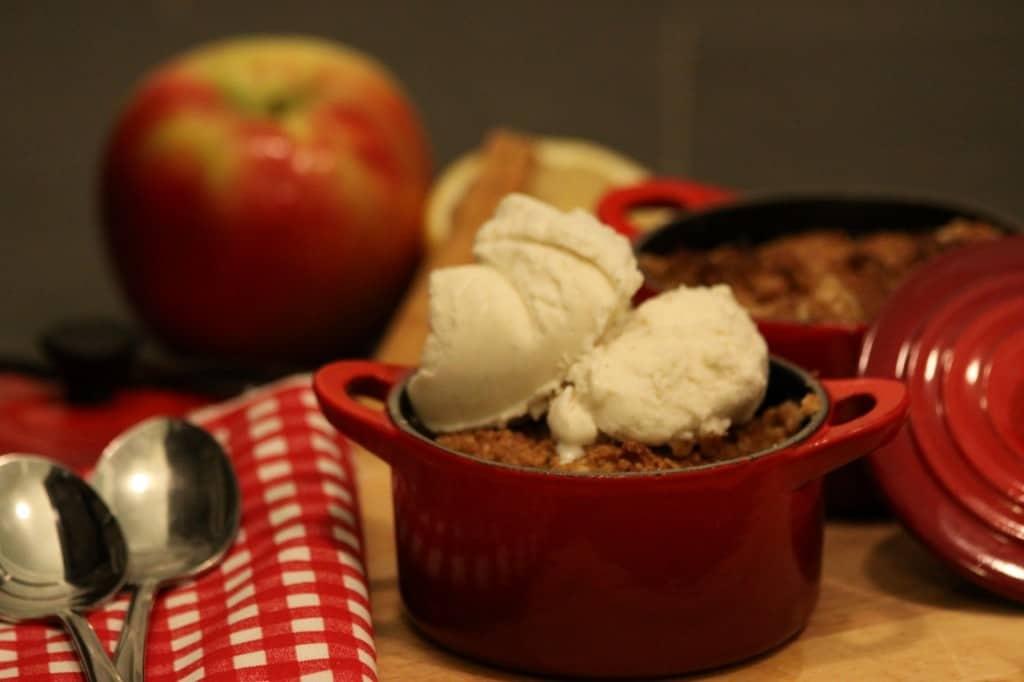 Apple Cranberry Crisp Cocotte