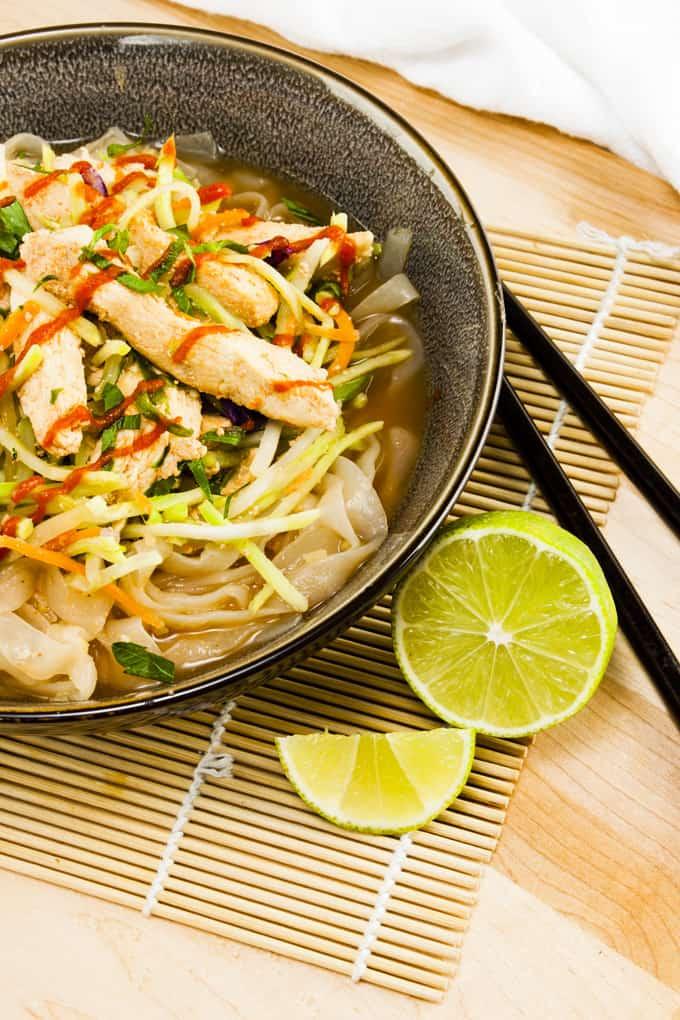 Spicy Peanut Chicken with Shirataki noodles