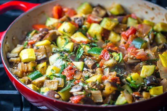 Vegan, gluten-free ratatouille