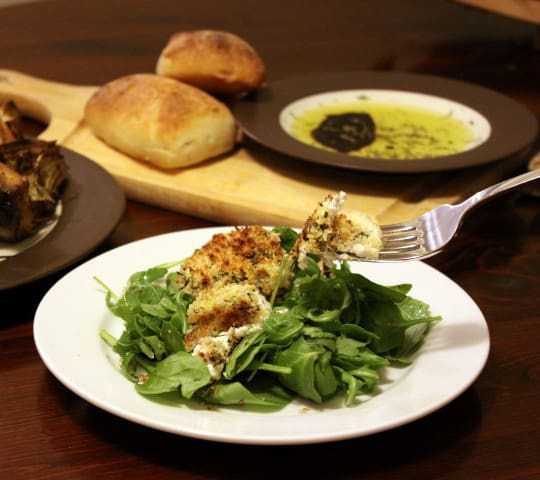 Herb Crusted Goat Cheese Rounds