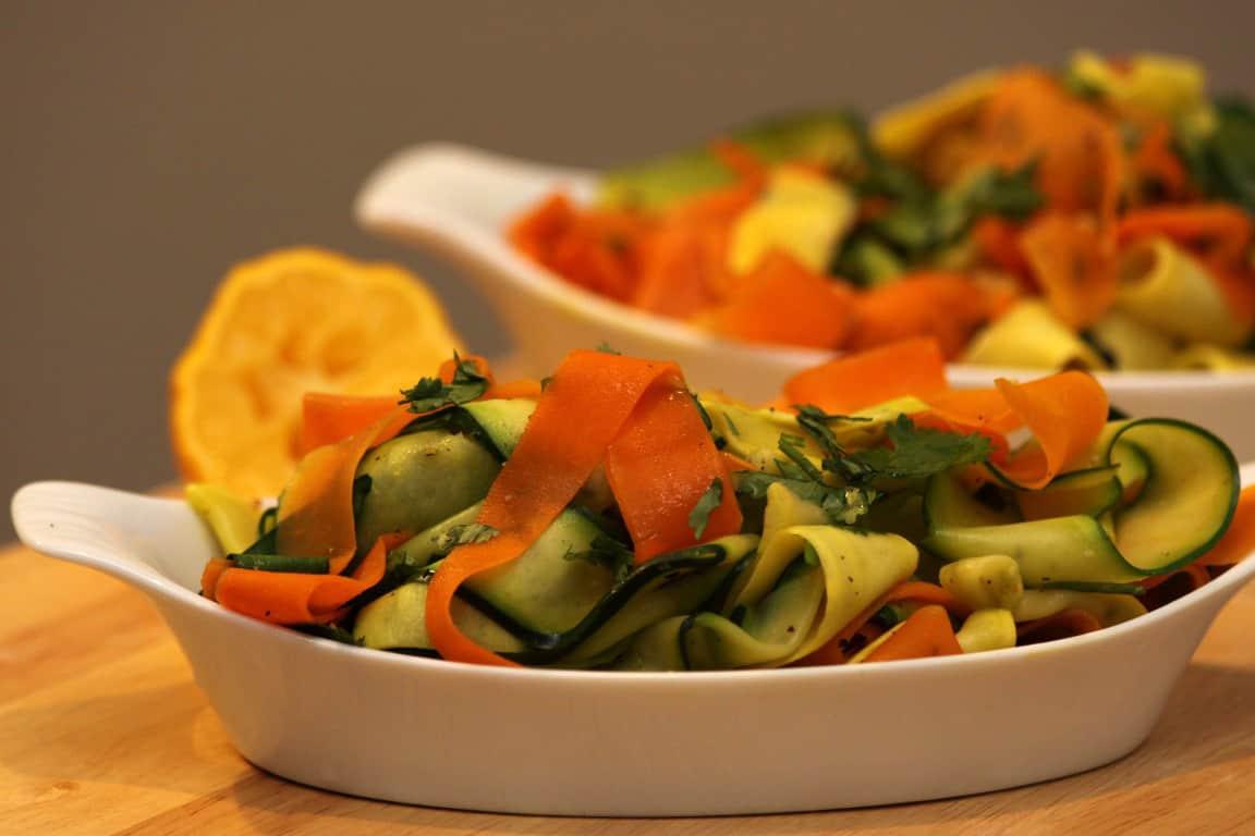 Carrot, Zucchini, and Squash Ribbons | Home Sweet Jones