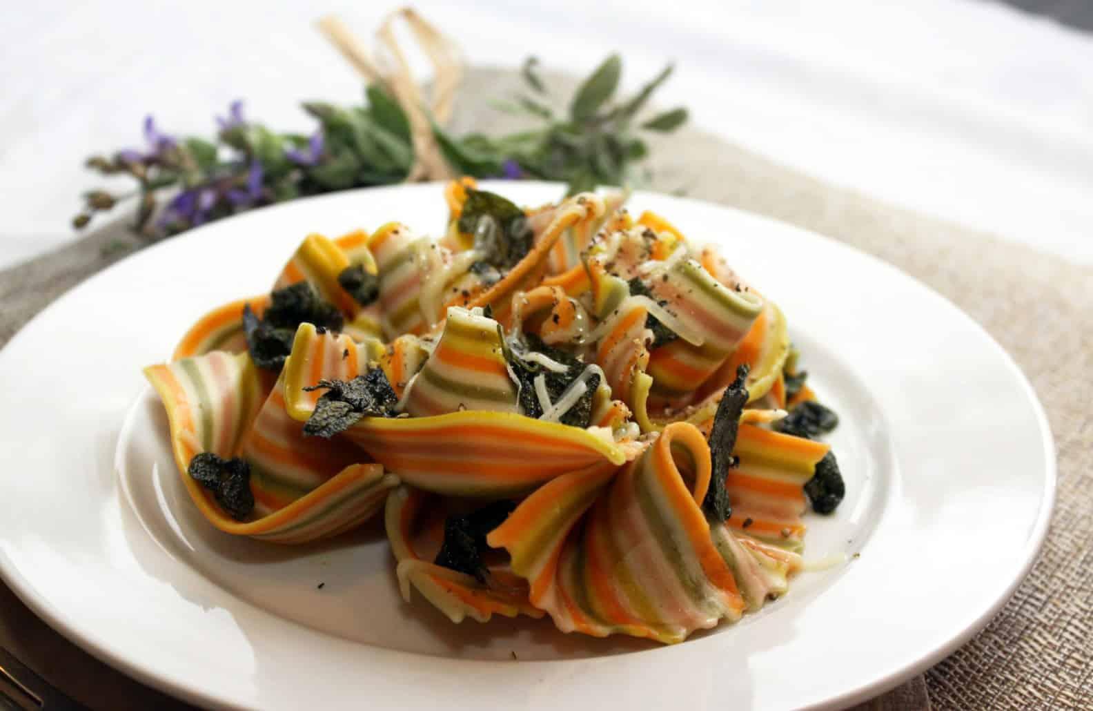 Sage Buerre Noisette Pasta Close Up