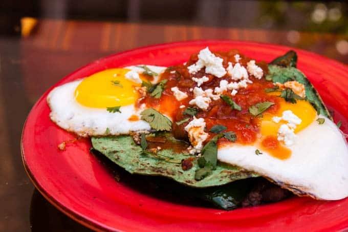 Brad's Huevos Rancheros Eggs Sunny Side Up