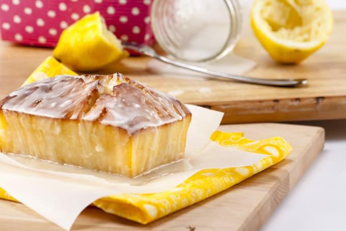 Glazed Lemon Bread Loaf