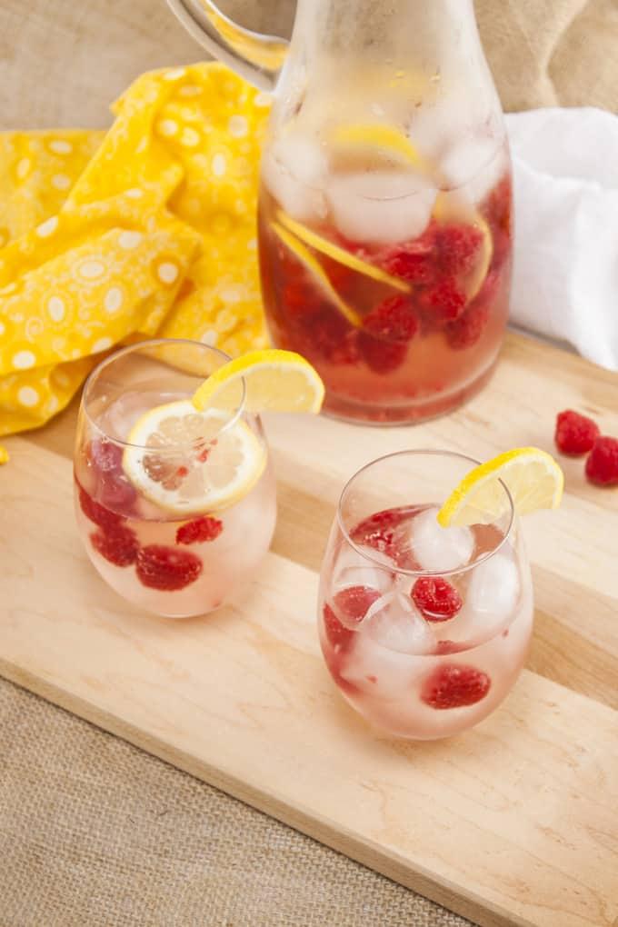 Raspberry Lemonade Champagne Sangria