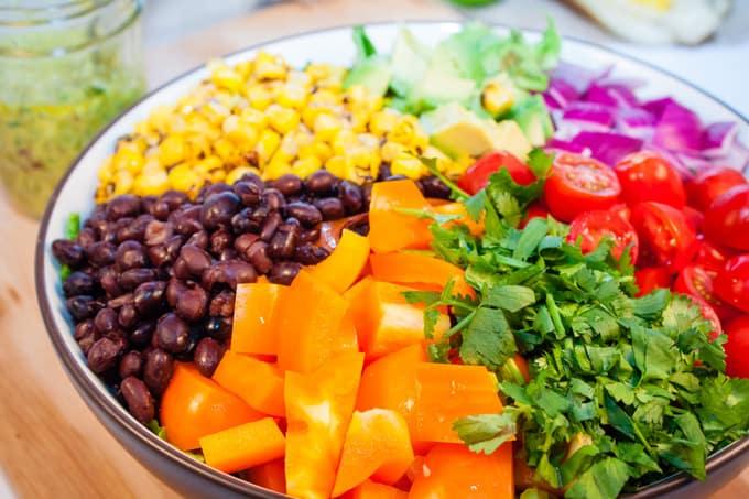 Vegan Southwest Salad with Creamy Avocado Chipotle Dressing | Home ...