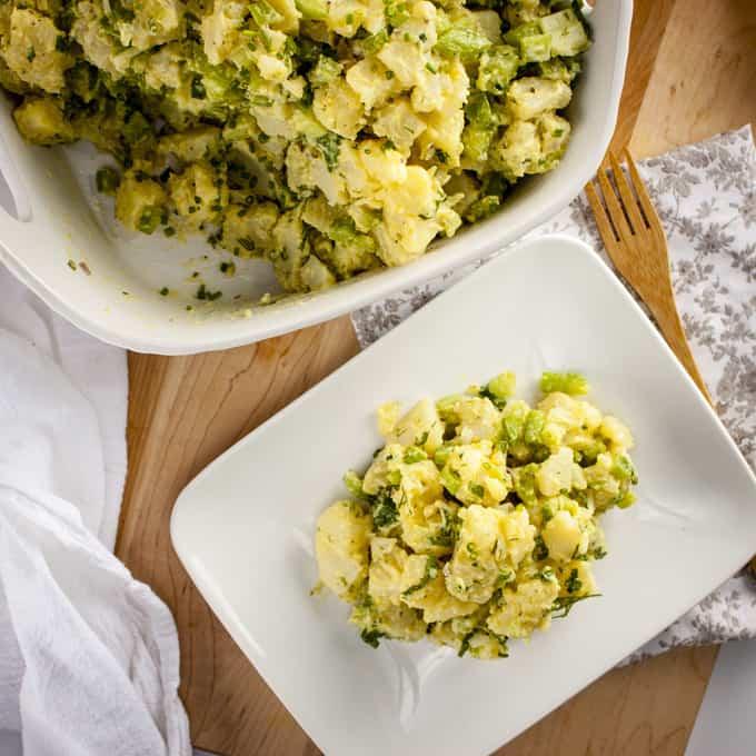 Egg-free, non dairy southern-style potato salad