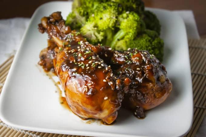 Chicken Drumsticks with Asian Glaze