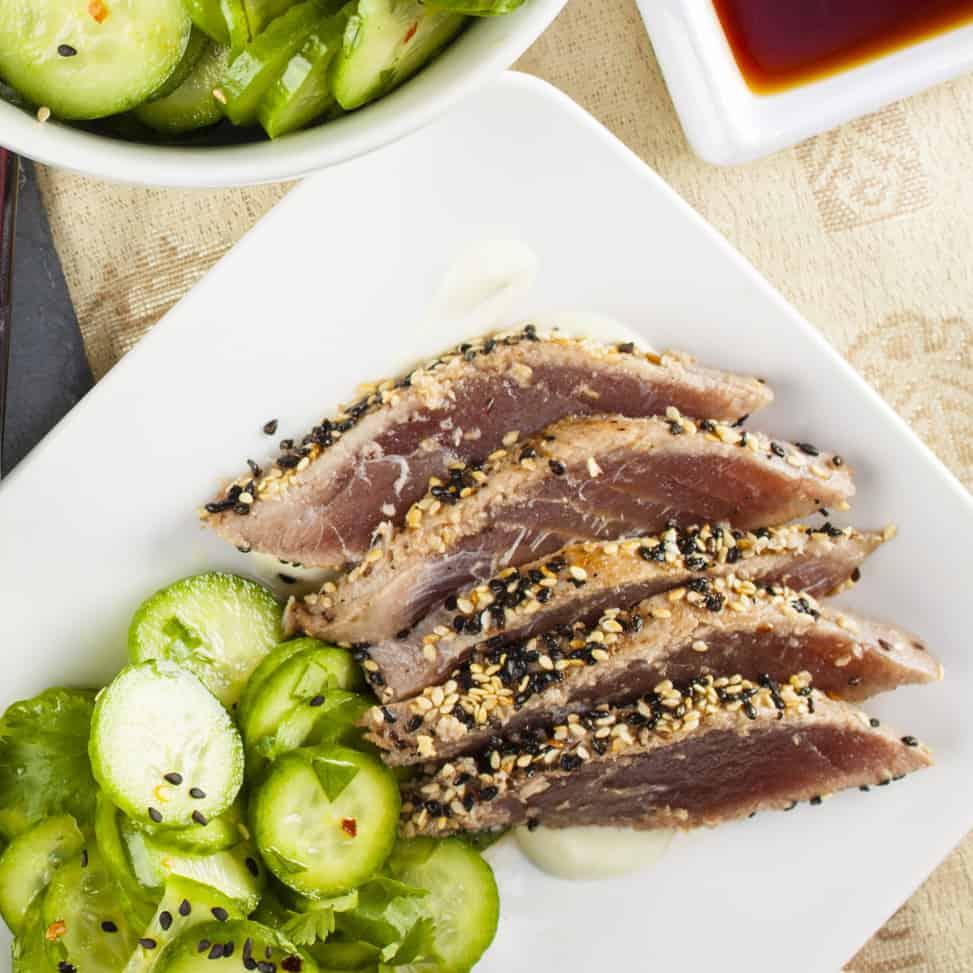 Sesame-Crusted Ahi