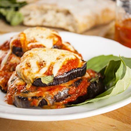 Baked Eggplant Parmesan Stacks