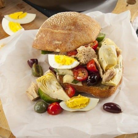 Rustic Pan-Bagnat Niçoise Sandwich