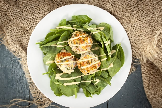 Salmon-crab sliders with zesty Creole mustard sauce are gluten-free and oh so tasty