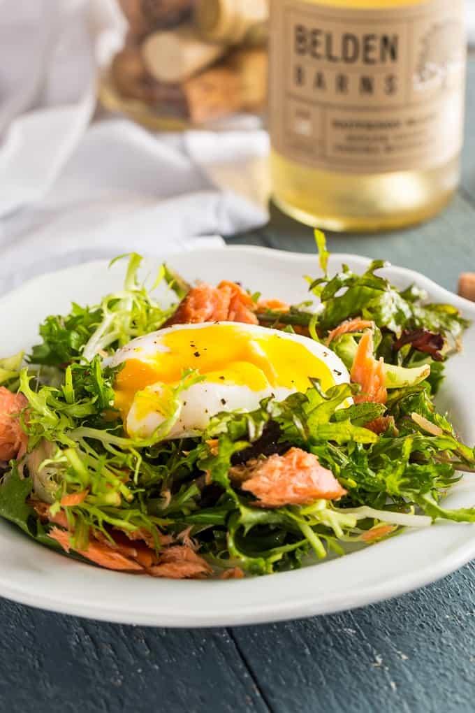 Decadent Salmon Salade Lyonnaise