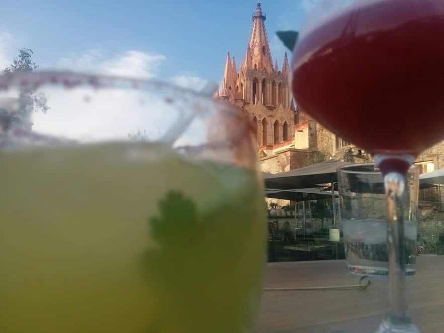 Pineapple Serrano Margarita in San Miguel de Allende