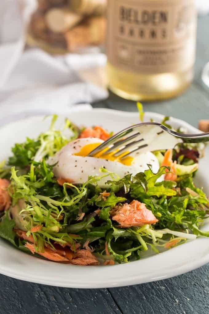 Salmon Salade Lyonnaise