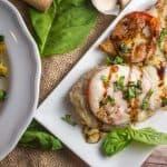 Caprese chicken with balsamic glaze