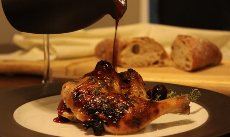 Cornish Game Hens With Triple Cranberry Thyme Sauce