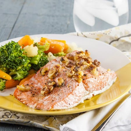 This light, healthy salmon takes just 4 ingredients and 10 minutes