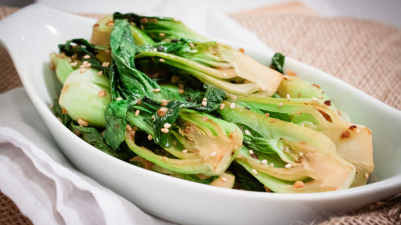 cooking bok choy