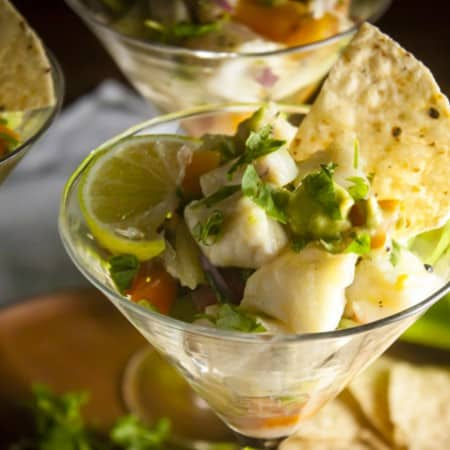 Halibut Ceviche with Lime