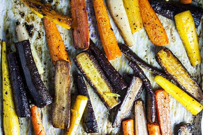 Simple roasted carrots square