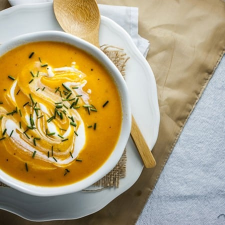 Light and Creamy Carrot Ginger Soup