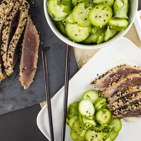 Sesame-crusted Ahi makes an elegant but fast and easy dinner