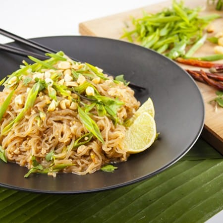Super fast and easy Miracle Noodle Pad Thai - vegan and gluten-free