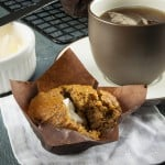 Mulberry flaxseed superfood muffin
