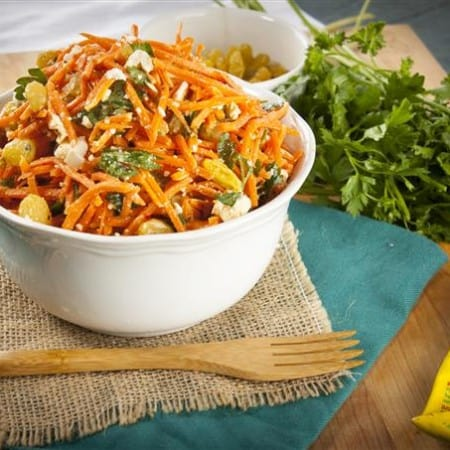 Moroccan Carrot Salad with Spicy Lemon Dressing