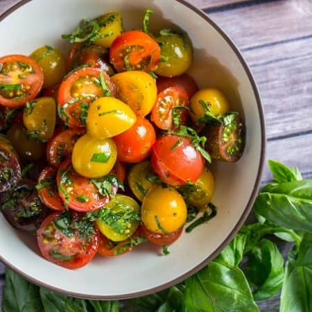 Heirloom tomato summer salad