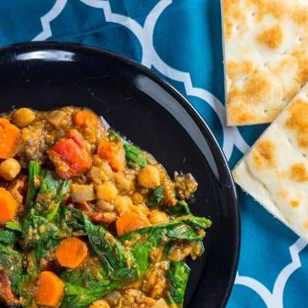 This chickpea and apricot Moroccan stew is so hearty and flavorful you'd never guess it's vegan